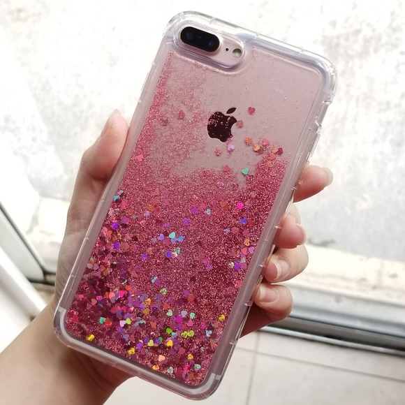 outlet store fe71d b8279 iPhone Rose Gold Holographic Glitter Case Boutique